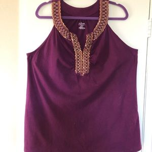 Tops - Women's plus sleeveless embellished tee 18/20